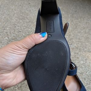Style & Co Shoes - NWOT Style & Co. Navy Blue Mary Jane's Heels 7M